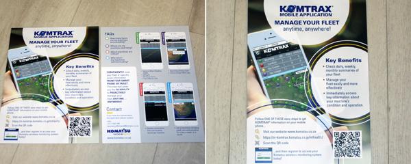 Komtrax brochures