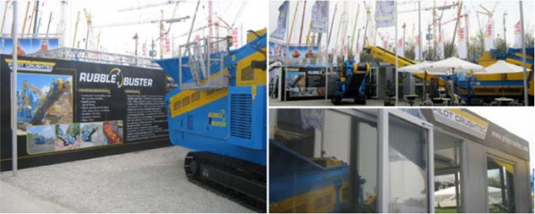 Bauma Germany outdoor exhibition stand