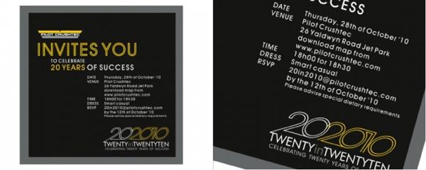 20 year anniversary invitation
