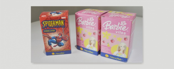 childrens' vitamins packaging design